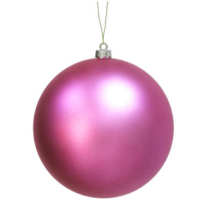Orchid Pink Ball Ornament 10-inch