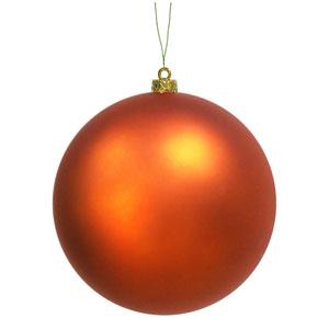 Burnish Orange 10-Inch UV Matte Ball Ornament