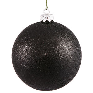 Black 12-Inch Sequin Ball Ornament
