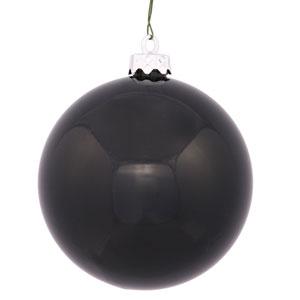 Black 12-Inch UV Shiny Ball Ornament