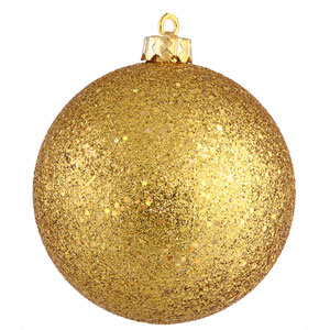 Antique Gold 12-Inch Sequin Ball Ornament