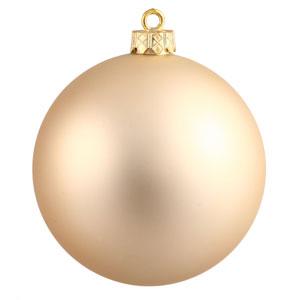 Champagne 12-Inch UV Matte Ball Ornament