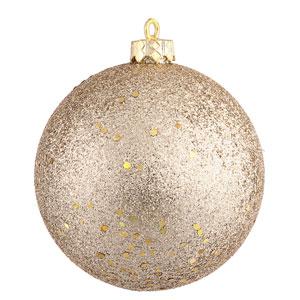 Champagne 12-Inch Sequin Ball Ornament