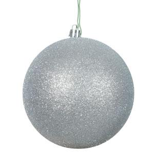 Silver Glitter Ball Ornament