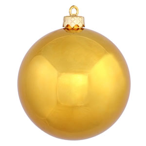 Antique Gold Shiny Ball Ornament