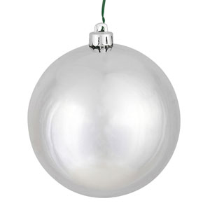 Silver Shiny Ball Ornament, Set of Sixty