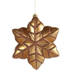 Mocha 8-Inch Snowflake Ornament, 2 per Box