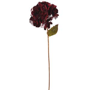 Burgundy Velvet Hydrangea Flower