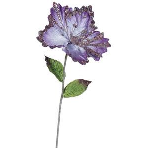 Purple Hibiscus Flower, Set of Three