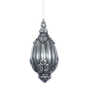 Antique Silver Sculptured Drop, Set of Four
