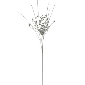 Silver Sparkle Blossom Spray 27-inch