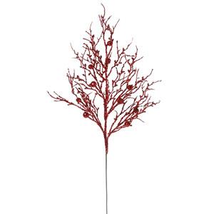 Red Sparkle Berry Spray 29-inch
