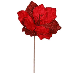 Red Sparkle Amaryllis Spray 16-inch