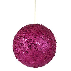 Magenta Jewel Ball Ornament 120mm
