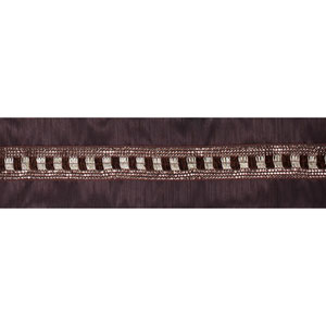 Gold Sequin Trim Chocolate Ribbon, Five Yards