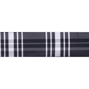 Black White Scandia Plaid Ribbon, Ten Yards