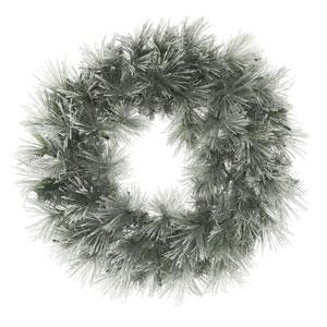 30 In. Flocked Walden Pine Wreath