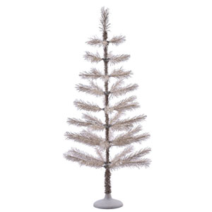 4 Ft. Champagne Feather Tree