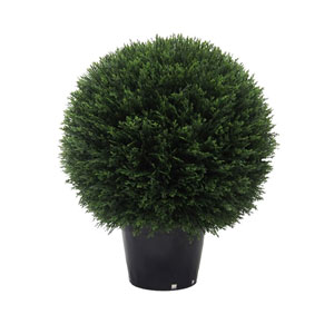 20 In. Cedar Ball In Pot UV