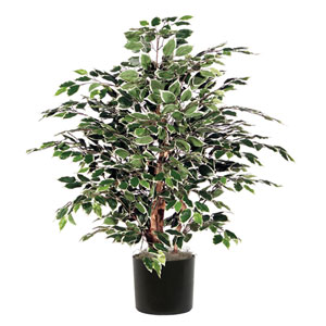 Green and White 4 Foot Extra Full Variegated Tree