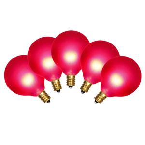 15 Light Satin Red Light Set