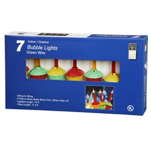 7 Light Multi Colored Bubble Light Set