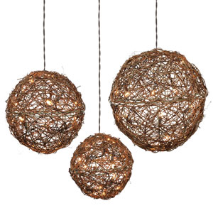60 Light Rattan Ball Set