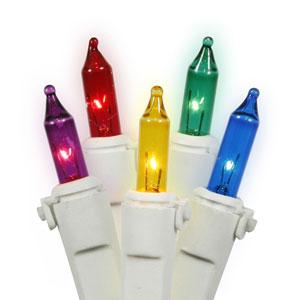 Multi-Color Light Set White Wire Light Set 50 Lights