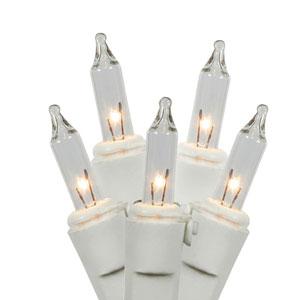 Clear Dura-Lit White Wire Light Set 50 Lights