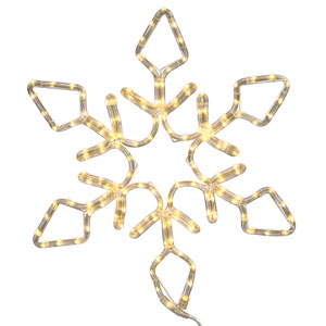 24 In. LED Pure White Diamond Snowflake