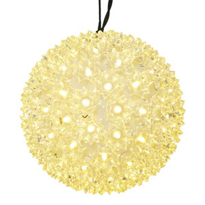 100 Light LED Warm White Twinkle Star Sphere String