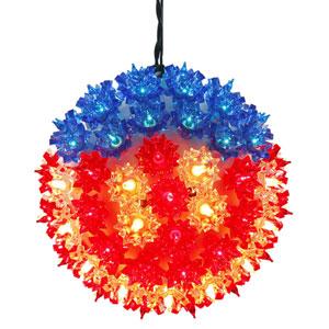 100 Light LED US Flag Starlight Sphere