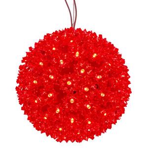 150 Light LED Red Starlight Sphere String Light