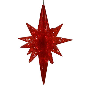 Red 20-inch Bethlehem Star 50 Lights