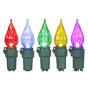 35 Light LED Multicolor Flame Tip Set