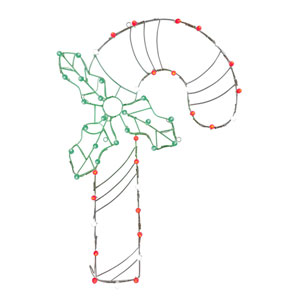Multicolor LED Candy Cane Wire Motif