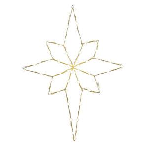 Warm White LED Bethlehem Star Motif