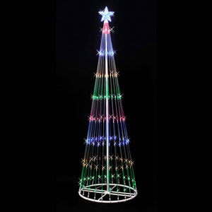Multicolor 4 Foot LED 152 Light Show Tree
