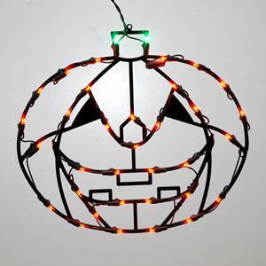 Orange LED Pumpkin Window Decor
