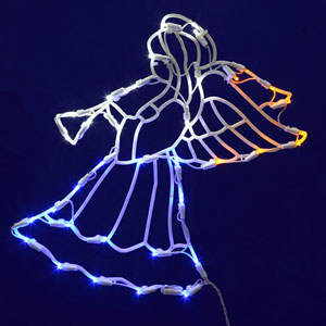 White LED Angel Window Decor