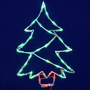 Green LED Tree Window Decor