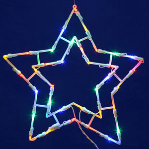 White LED Star Window Decor