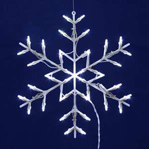 White LED Snowflake Window Decor
