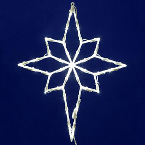 White LED Star of Bethlehem Window Decor