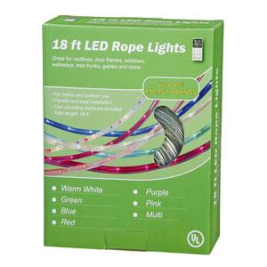 Purple 18 Foot LED Rope Light