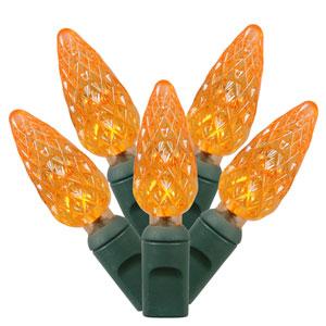 Orange 33 Foot LED Light Set with 100 Lights