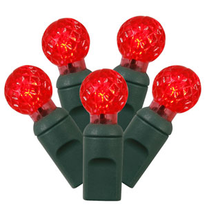 Red 34 Foot LED Light Set with 100 Lights