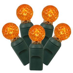 Orange 34 Foot LED Light Set with 100 Lights