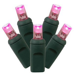 50 Light LED Pink String Light Set