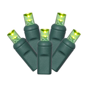 50 Light LED Lime Green Light Set